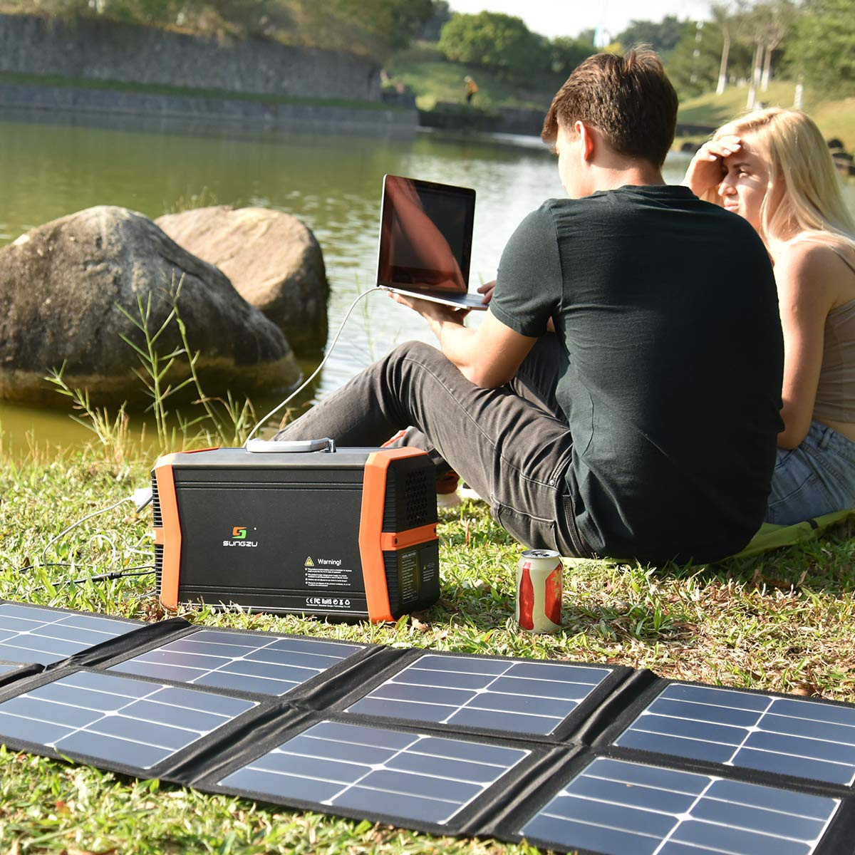 Amazon.com: SUNGZU Generadores portátiles con energía solar ...