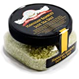 Hawaiian Bamboo Jade Sea Salt - Pure Unrefined Sea Salt From Hawaii Infused With Organic Bamboo Leaf Extract - All Natural Gluten Free No-MSG Non GMO Cooking & Finishing Salt - 4 Ounces Stackable Jar