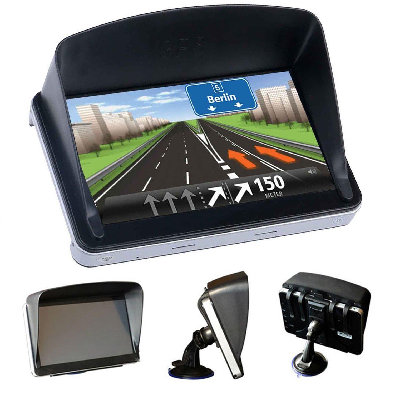 asukala GPSサンシェード、GPSナビゲータレンズフードバイザーアンチ反射7-inchポータブルBluetooth車のGPS B07BVT1C9L
