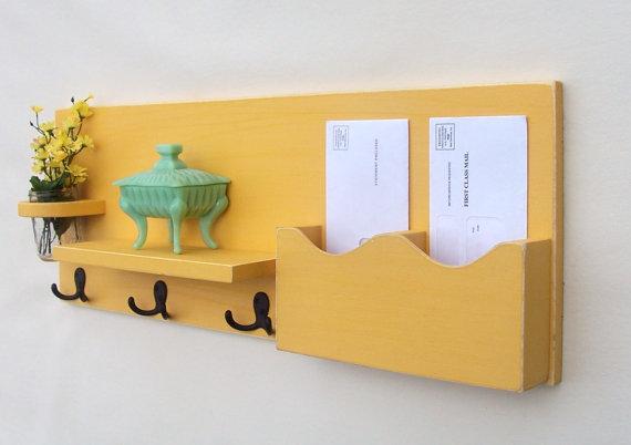 Mail Organizer Mail Holder Coat Hooks Key Hooks by LegacyStudio
