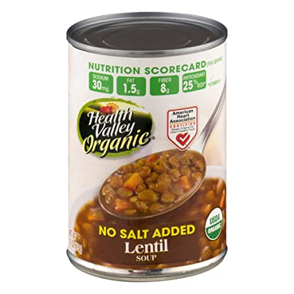 Health Valley Soup Lentil Ns Org (Pack of 2)