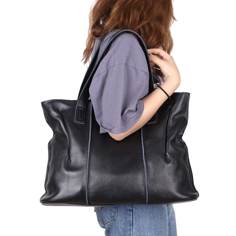 57931f802670 Amazon.com  CLELO Womens Soft Leather Handbags Tote Shoulder Bag Designer  Purses Large Capacity  Clothing