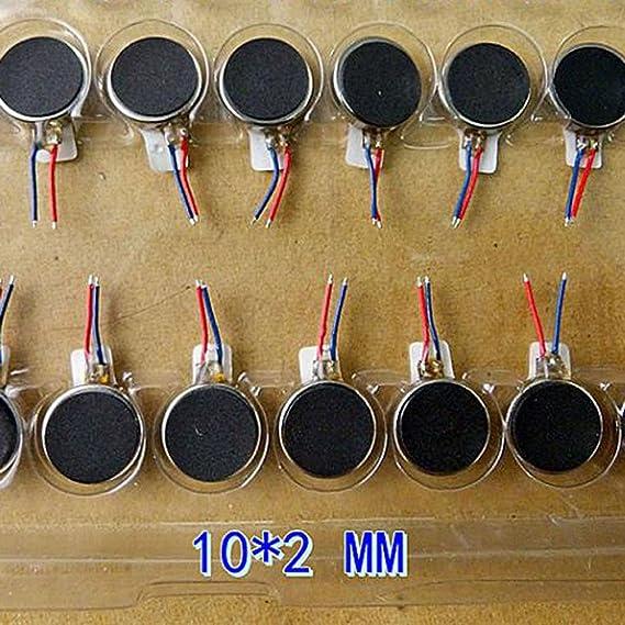 10PCS Ultra-thin Button Coin Vibration Motor Micro Flat Vibration Motor 10*2mm