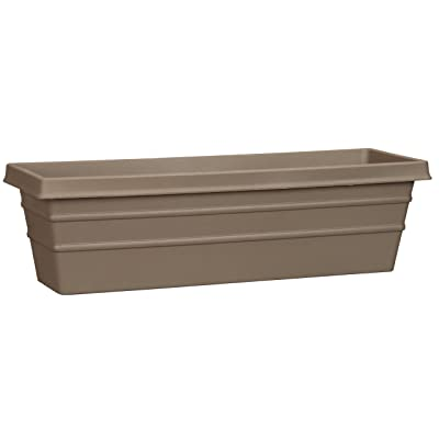 Akro-Mils MSW24000E21 Marina Window Box, Chocolate, 24-Inch : Plant Window Boxes : Garden & Outdoor