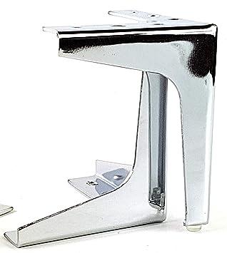 H8050 1 St/ück Tischbein mit Filzgleiter Kommoden-Fu/ß f/ür schwere Couch /& Sofas Gedotec Design M/öbelfu/ß Chrom poliert Metall Schrankfu/ß PREMIUM f/ür Holz-Schr/änke M/öbel /& K/üche H/öhe 150 mm