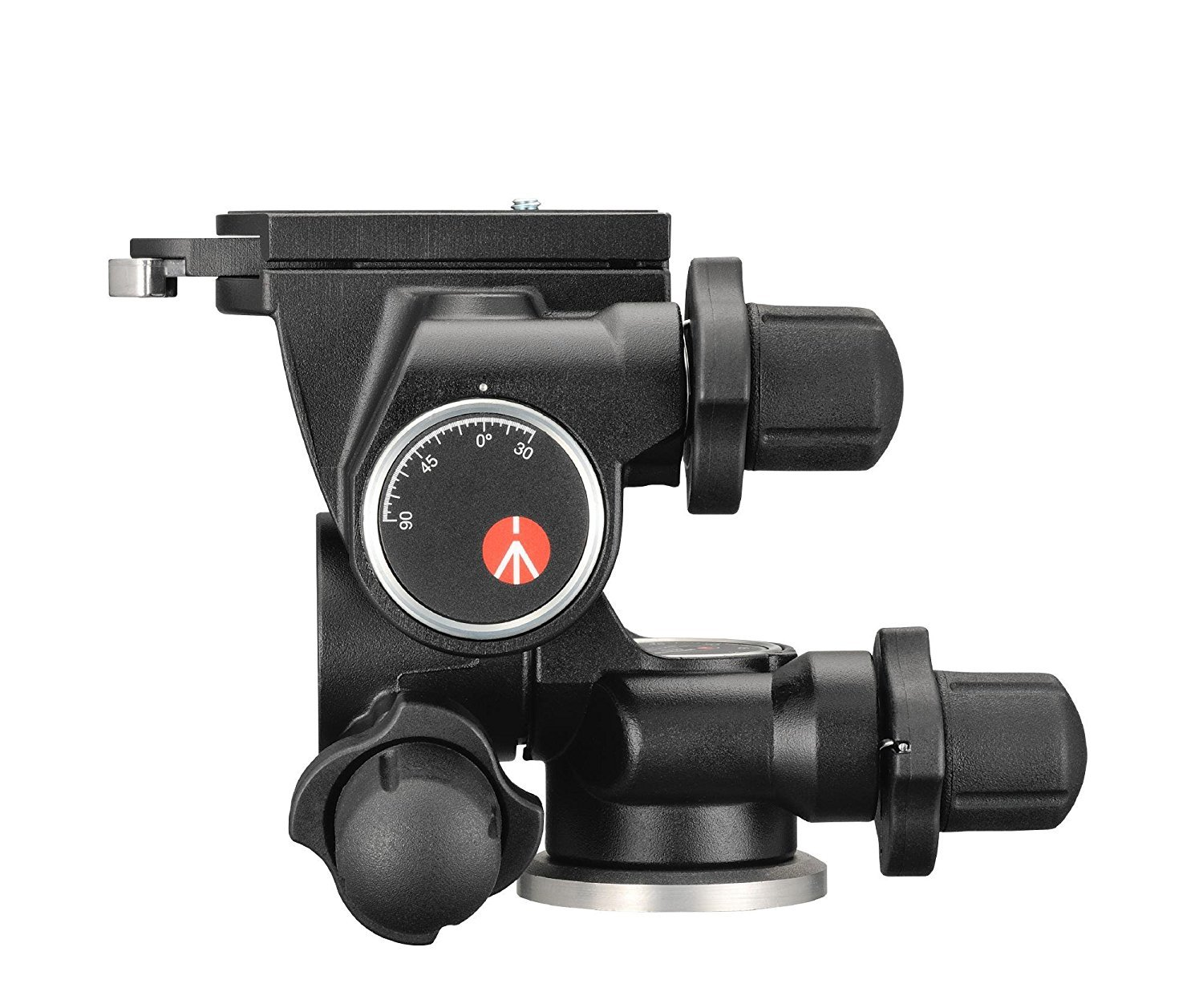 Manfrotto 410 Junior Geared Tripod Head with Quick Release and a Bonus Ivation Quick Release Plate by Manfrotto (Image #2)