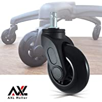 Office Chair Castors Wheels 3'' Replacement Desk Chair Casters - Perfect Replacement for Desk Floor Mat - Furniture casters Rolling Style Swivel