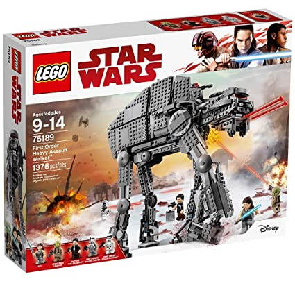 Lego Star Wars Episode Viii First Order Heavy Assault Walker 75189 Building Kit 1376 Piece