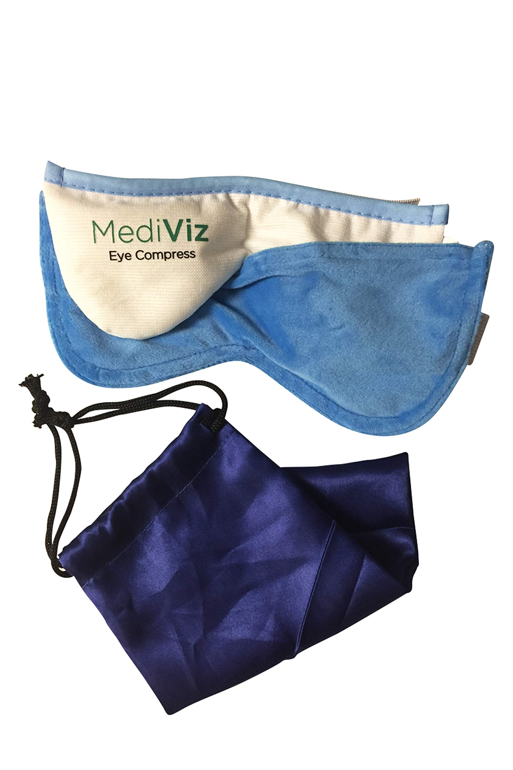 Mediviz Blepharitis Dry Eye Mask - With Removable Cover, Relieving Dry Eye Moist Heat Compress for Dry Eye, Styes, Meibomian Gland Dysfunction, Headaches, Sinuses, and Allergies (REMOVABLECASE) by MEDIVIZ