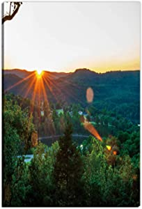 Hitecera Eureka Springs Sunset Household Items,167042 Painting Canvas Set,8''Wx12''H