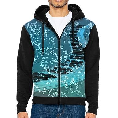 amazon com piano keyboard road man sweatshirt coat sport sweater