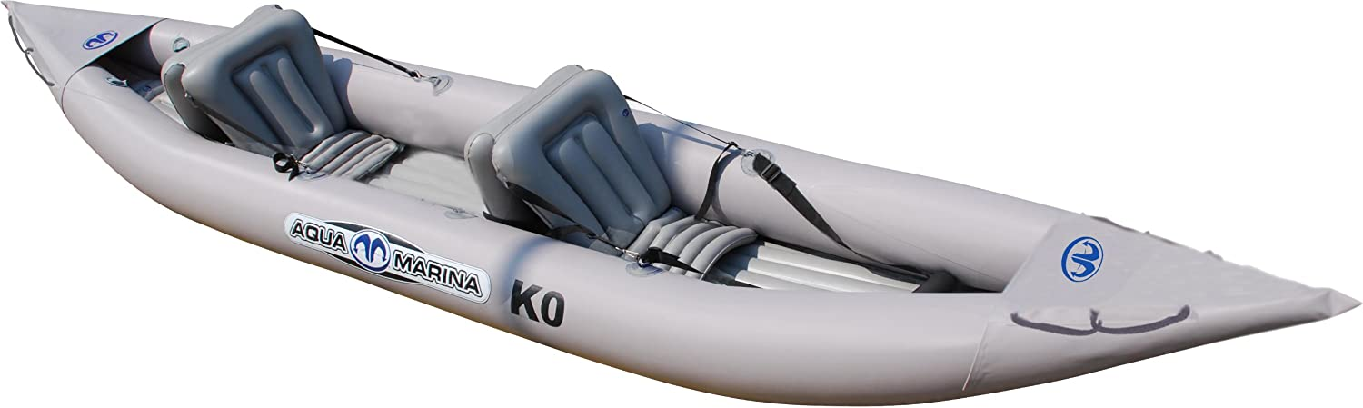 Aqua Marina K0 Inflatable Kayak for 2 Person, Paddle Included