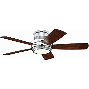 Craftmade Flush Mount Ceiling Fan With Led Light And