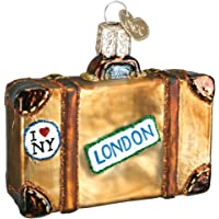 Old World Christmas Ornaments: Suitcase Glass Blown Ornaments for Christmas Tree (32105)