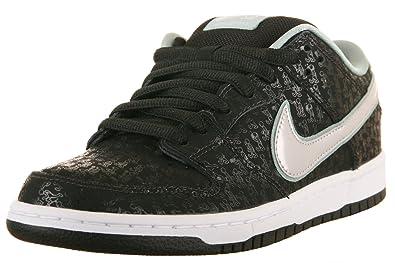 Nike Mens Dunk Low Pro Premium SB SPOT Black Metallic Platinum Synthetic  Skateboarding Size 11.5 395a5095d4a0