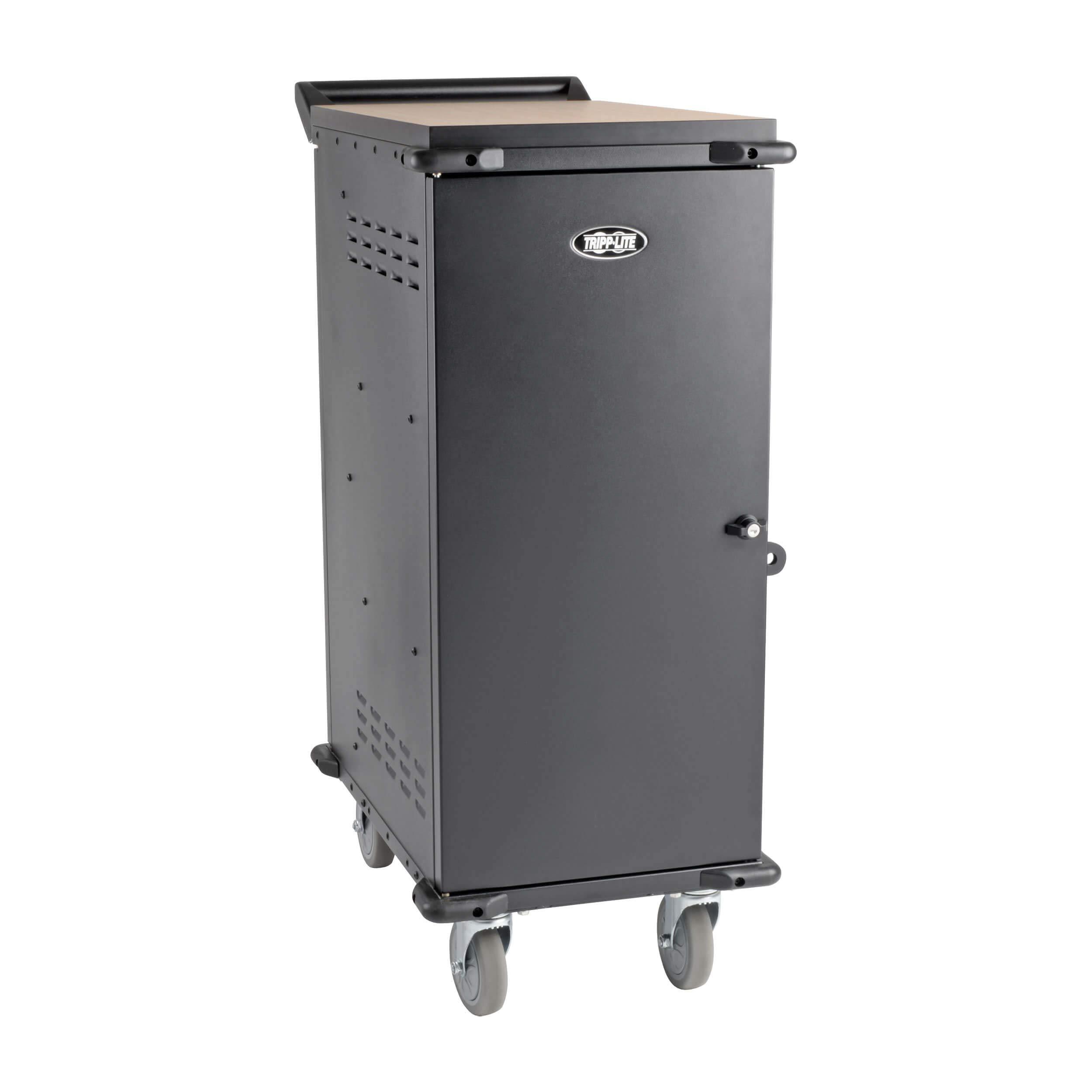 Tripp Lite 21-Port AC Mobile Charging Cart Storage Station for Chromebooks, iPads, Laptops, Tablets, Black (CSC21AC)