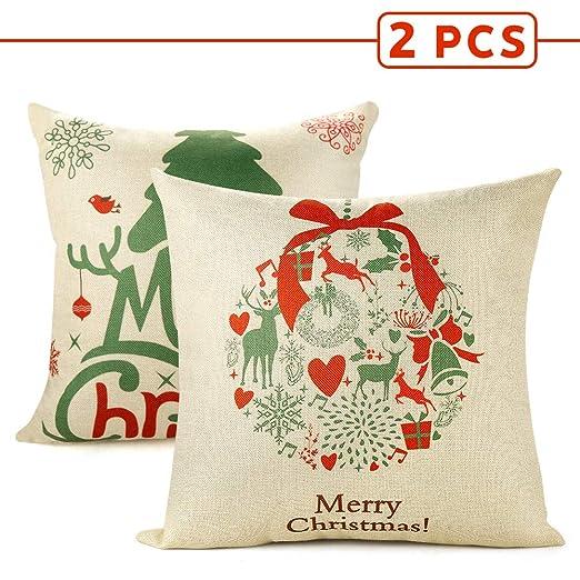 Cinsey Fundas de Almohada Decorativas de Navidad, para ...