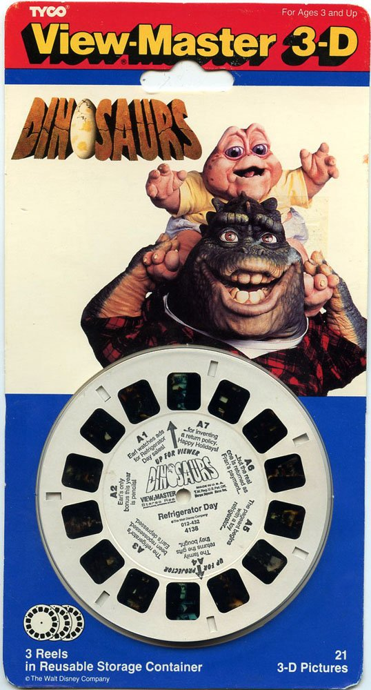 ViewMaster -Dinosaurs - the TV series - 3 Reels on Card - NEW