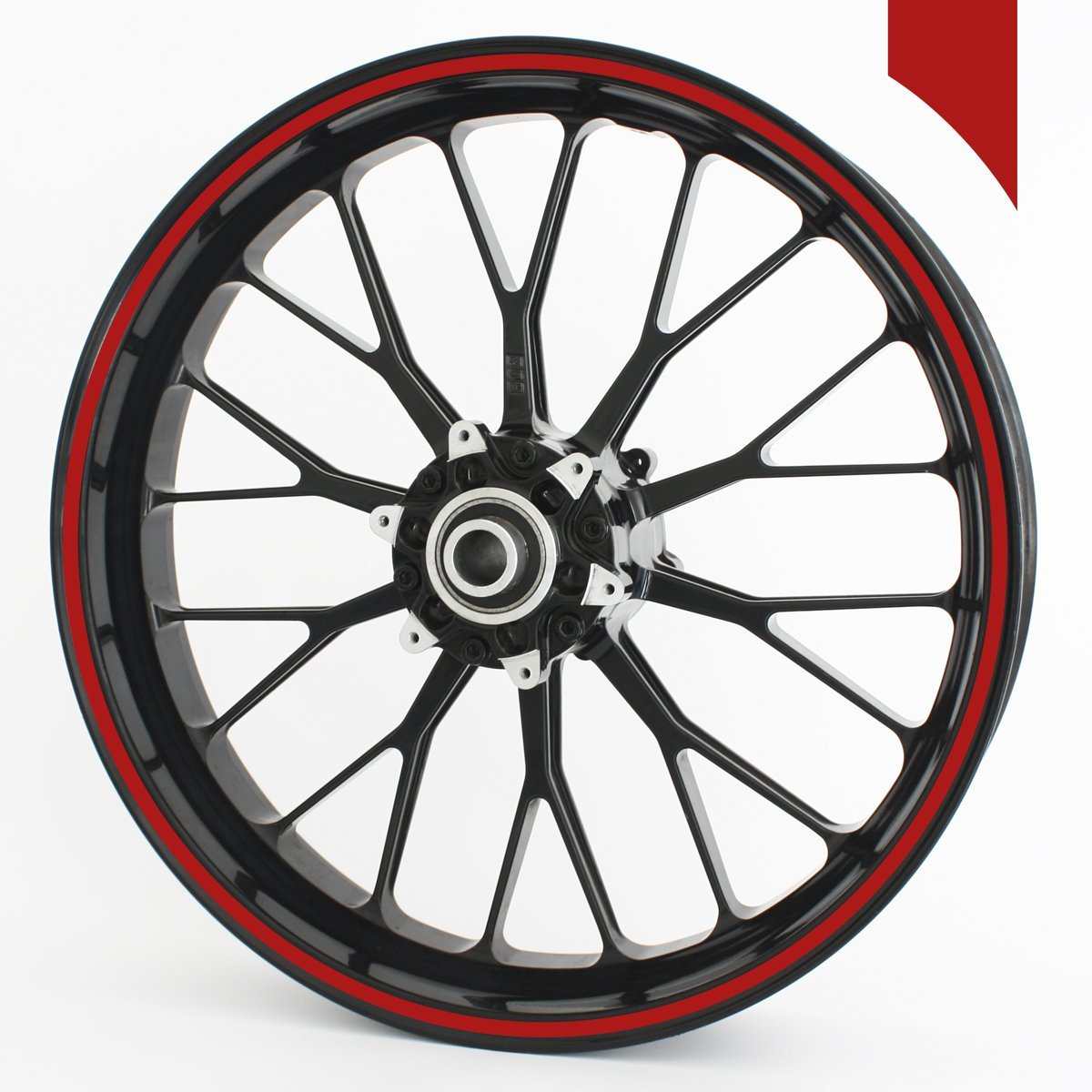 whole circle Wandkings wheel rim sticker 360 /° silver matte 0,16 inches for 10 to 14 colour /& width are selectable
