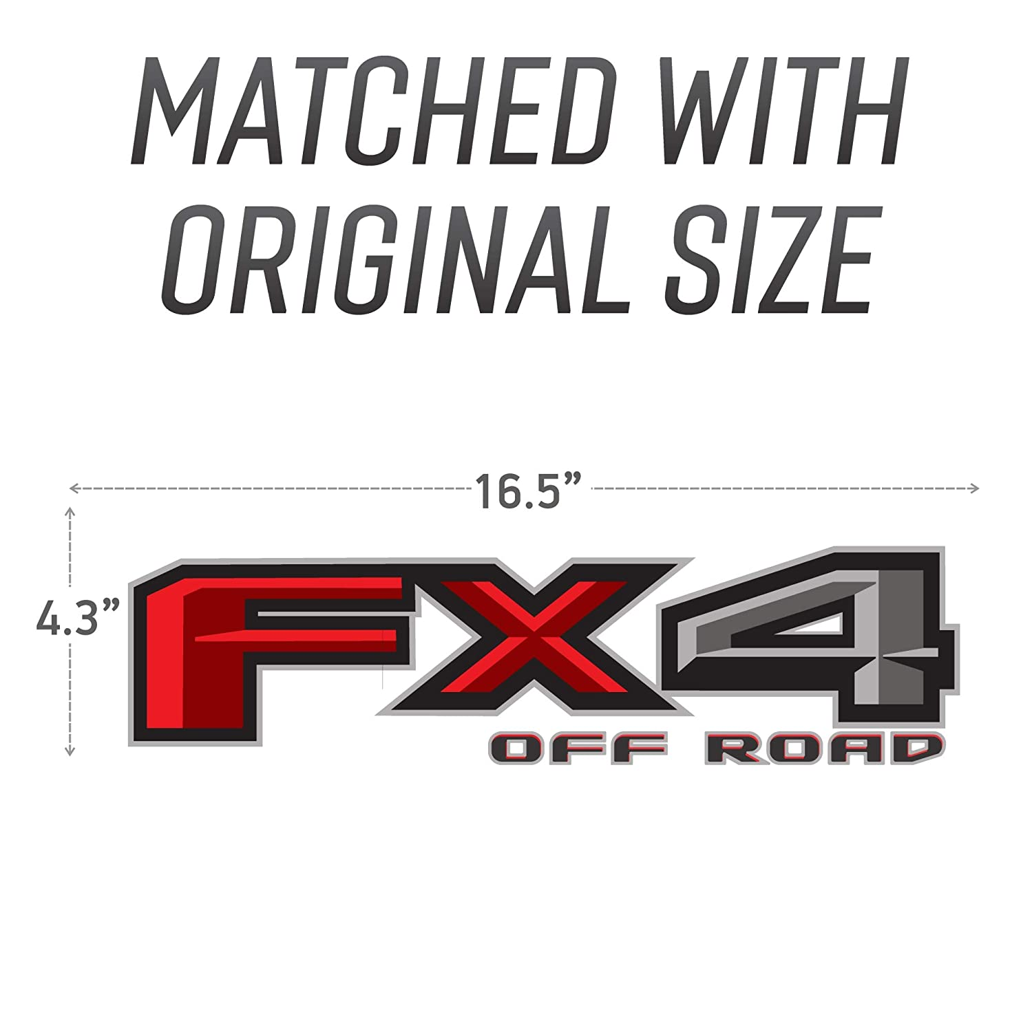 2015-2018 Ford F 150 FX4 Off Road Decal Bedside Off Road Emblem for 4x4 Truck Replacement Sticker
