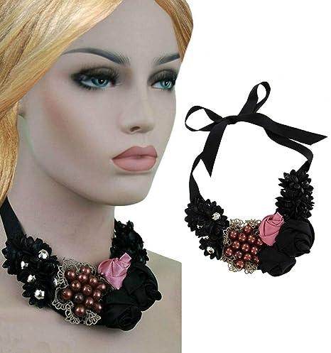 Steampunk Glam Rock Prom - Collar de corbata con diseño floral ...