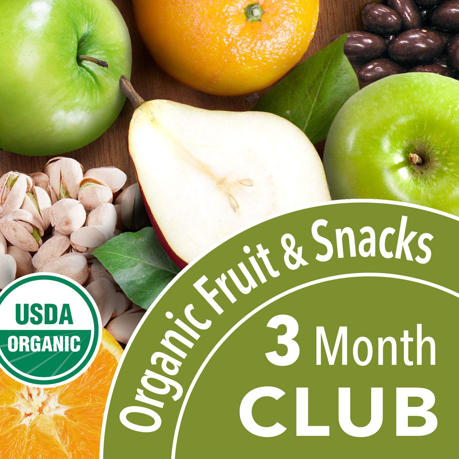 Organic Fruit and Snack Club - 3 Months (Choice of 3, 6, 9 or 12 Mos.)