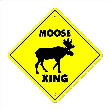 amazon com moose crossing sign zone xing indoor outdoor 12