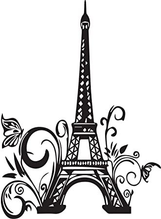 cute wall decals eiffel tower paris large wall quote decalhome u0026