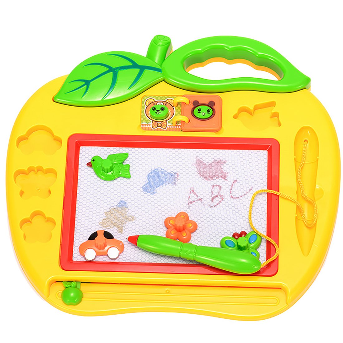 Caszel Color Sketchpad Magnetic Drawing Board for Kids/Toddlers with 3 Stamps and 1 Pen Doodle/Scribble/Writing/Draft/Sketch