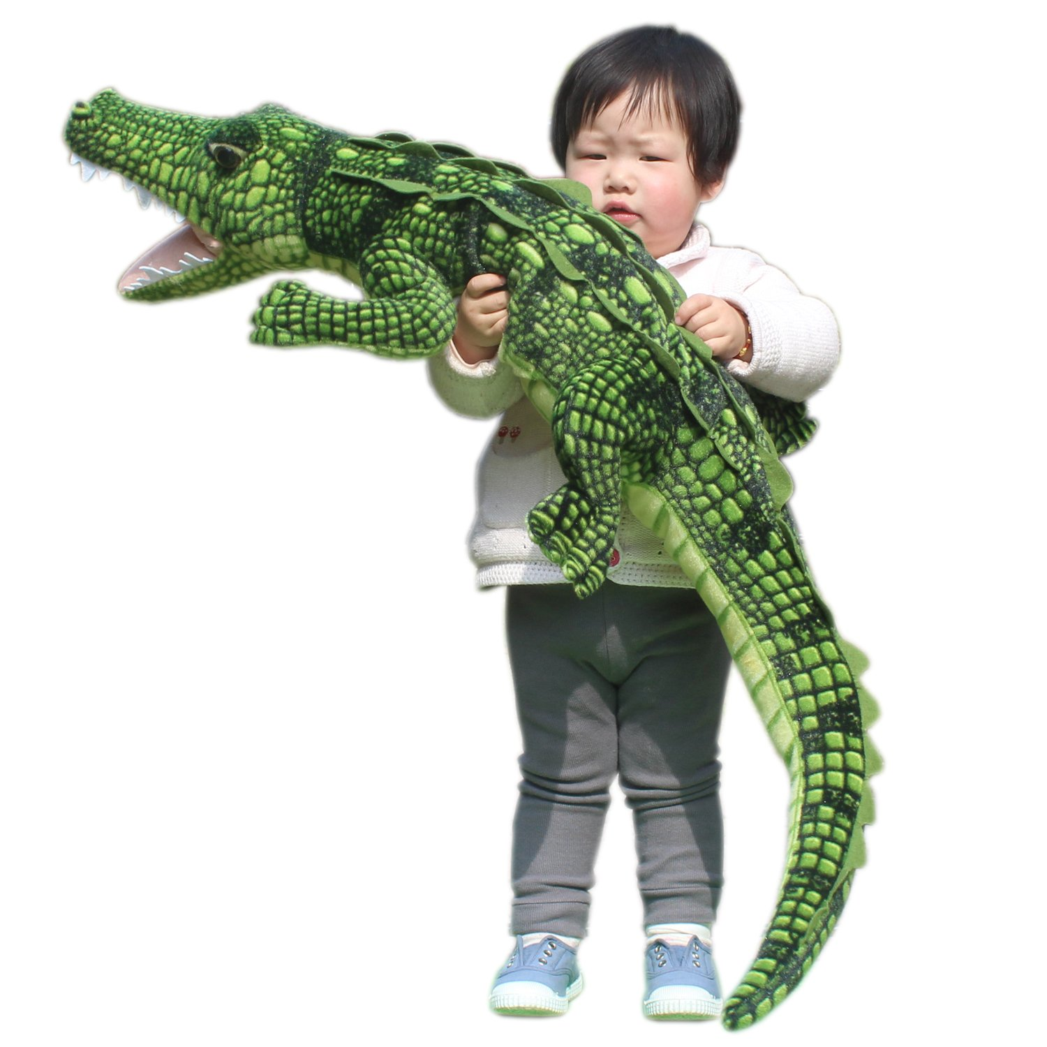 JESONN Realistic Soft Plush Animals Stuffed Toys Crocodile for Kids' Pillow and Gifts,43.3 Inches or 110CM,1PC