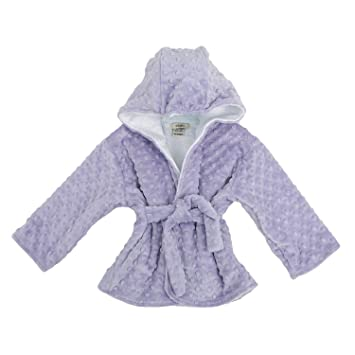 Amazon.com   Hooded Minky Dot Bath Robe Lavender 6-12 Months   Baby e280931eb