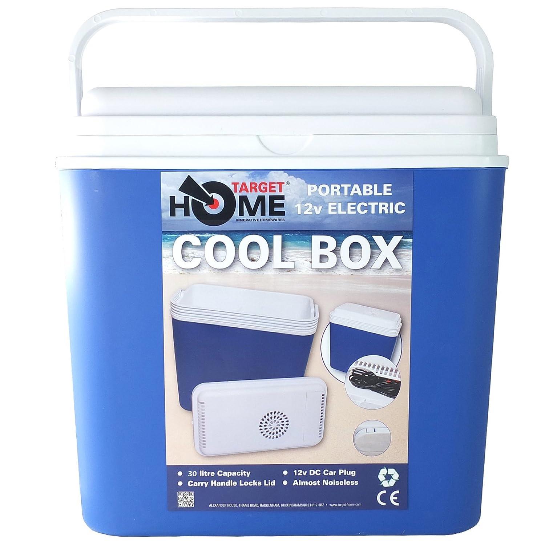 Target Homewares® Portable 30 Liter 24 V/12 V Elektrische Camping-Kühlbox – Fast rauscharmes