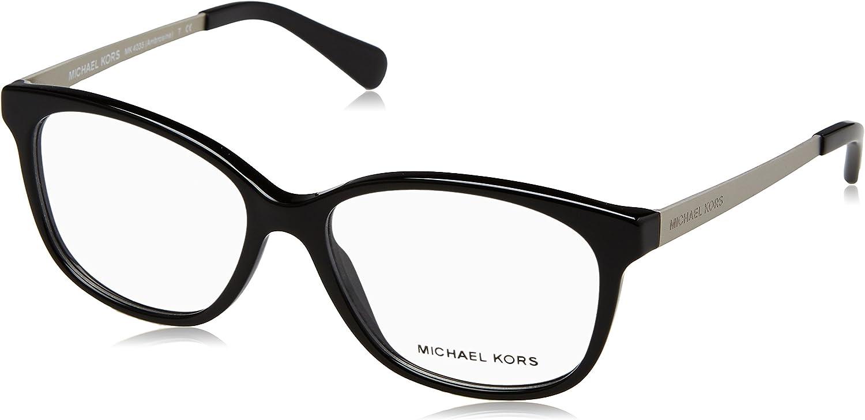 Michael Kors Ambrosine Gafas de sol, Black, 53 para Mujer