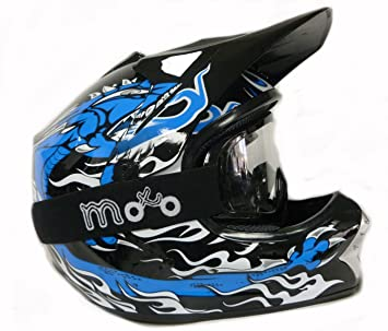 Casco Moto 3 Go X13 Blaze Junior Casco Niños, Quad Casco Motocross Scooter Kids Cascos