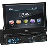 BOSS Audio Systems BV9967B Single Din, Touchscreen, Bluetooth, DVD CD MP3 USB SD AM FM Car Stereo, 7 Inch Digital LCD Monitor, Detachable Front Panel, Wireless Remote