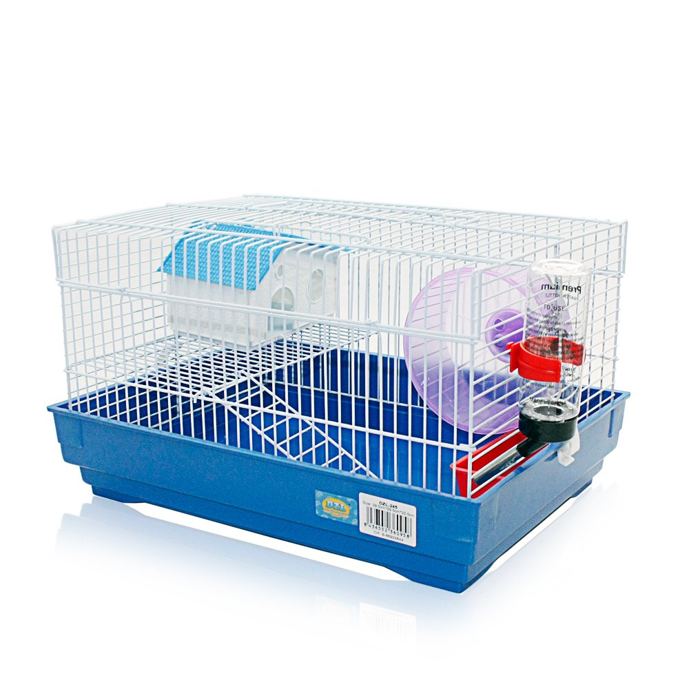DI ZE LIN PET HOME SL DZL Jaula para Hamster 39 * 29 * 23cm jaulas Hamsters Chalet metálicos Color al Azar