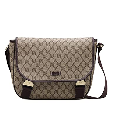 cc58e11af29 Image Unavailable. Image not available for. Color  GUCCI Men s Supreme  Canvas Messenger Bag 201732