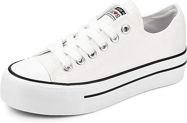 JENN ARDOR Womens Fashion Canvas Shoes Low Top Slip On Sneakers Comfortable Walking Shoes