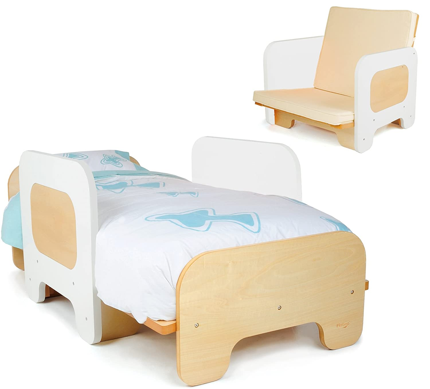 Pkolino PKFFBWHT Furniture Toddler Bed And Chair White Amazonca Baby