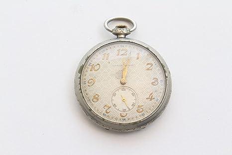 Unbekannt Bonito Reloj de Bolsillo Antiguos largas Pueblo con números Oro farbenen 34657 lanco conregulador Inoxidable