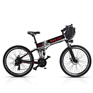 M80 Bicicleta plegable de 21 velocidades 48V * 350W Suspensión doble de bicicleta eléctrica de montaña