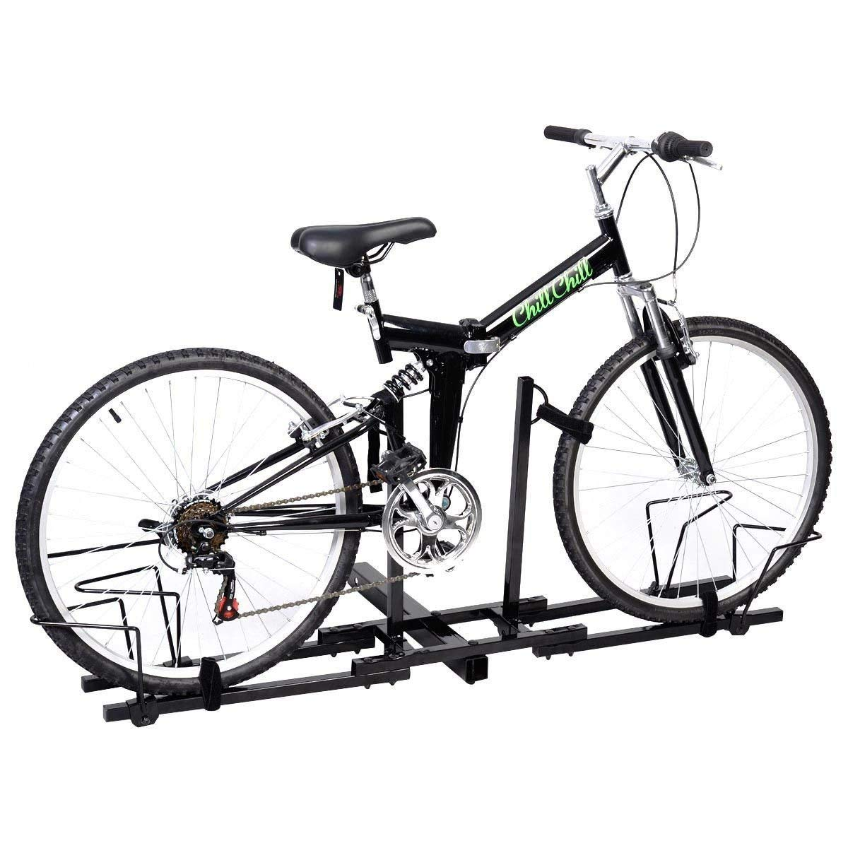 """CDM product New Upright 2 Mountain Bike Carrier Hitch Mount Bicycle Rack 2"""" Rear for SUV Van Truck Bike Rack big image"""