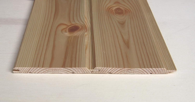 Perline da rivestimento in legno di pino mm.9,5x100 mt.1