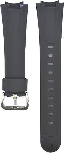 23 mm en Caoutchouc Noir Bracelet de Montre Compatible Casio  seeik