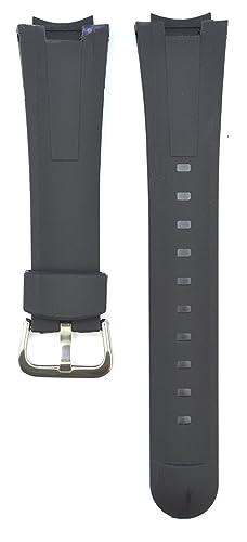 5d6c1831a5e4 23 mm Caucho Negro Correa de Reloj de COMPATIBLES Casio Edifice EF-305   Amazon.es  Relojes
