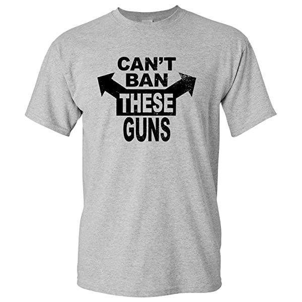 Cant Ban These Guns Funny Gym Workout Weight Lifting Ness T Shirt