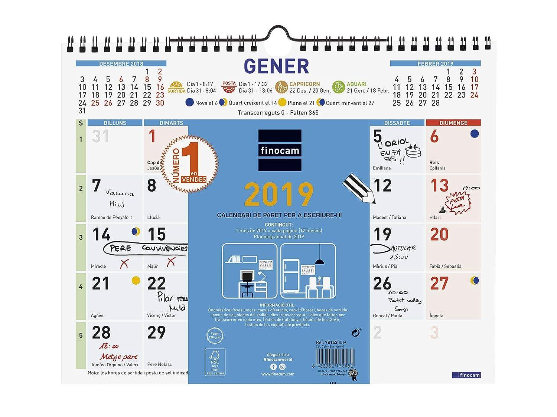 Finocam 781420019 - Calendario de pared 2019