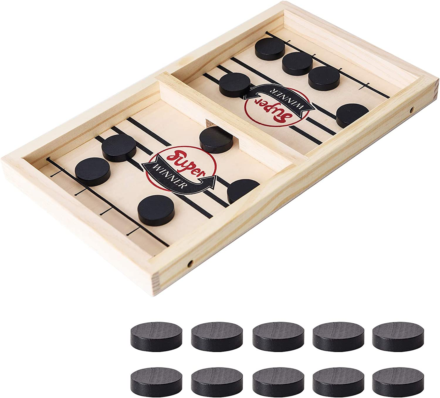 Yundu Fast Sling Puck Game,Foosball Winner Board Game,Table Desktop Battle Game for Parent-Child,Small (14 x 9 in)