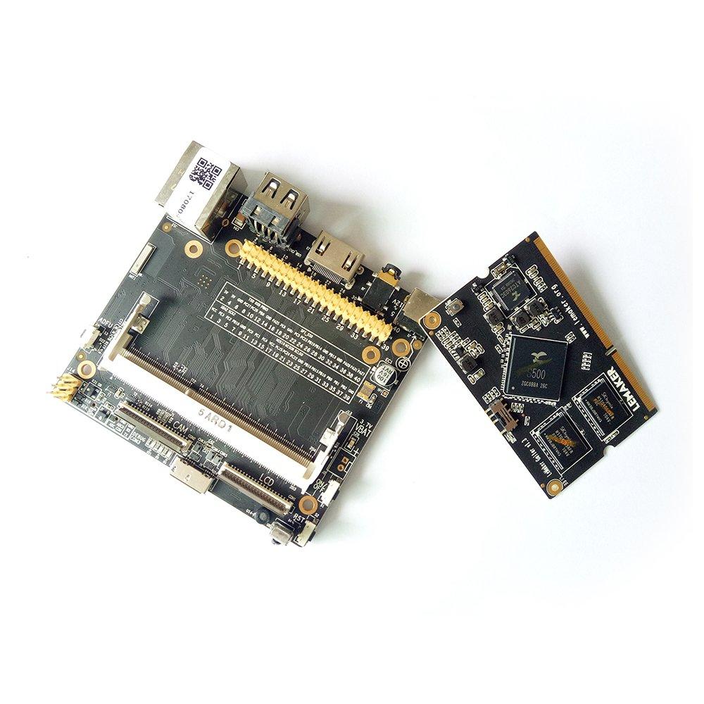 Lemaker Guitarra ARM de alto rendimiento Placa de desarrollo Quad-core de 64 bits 1G DDR3 + 8GB eMMC con Android 5.0 y L