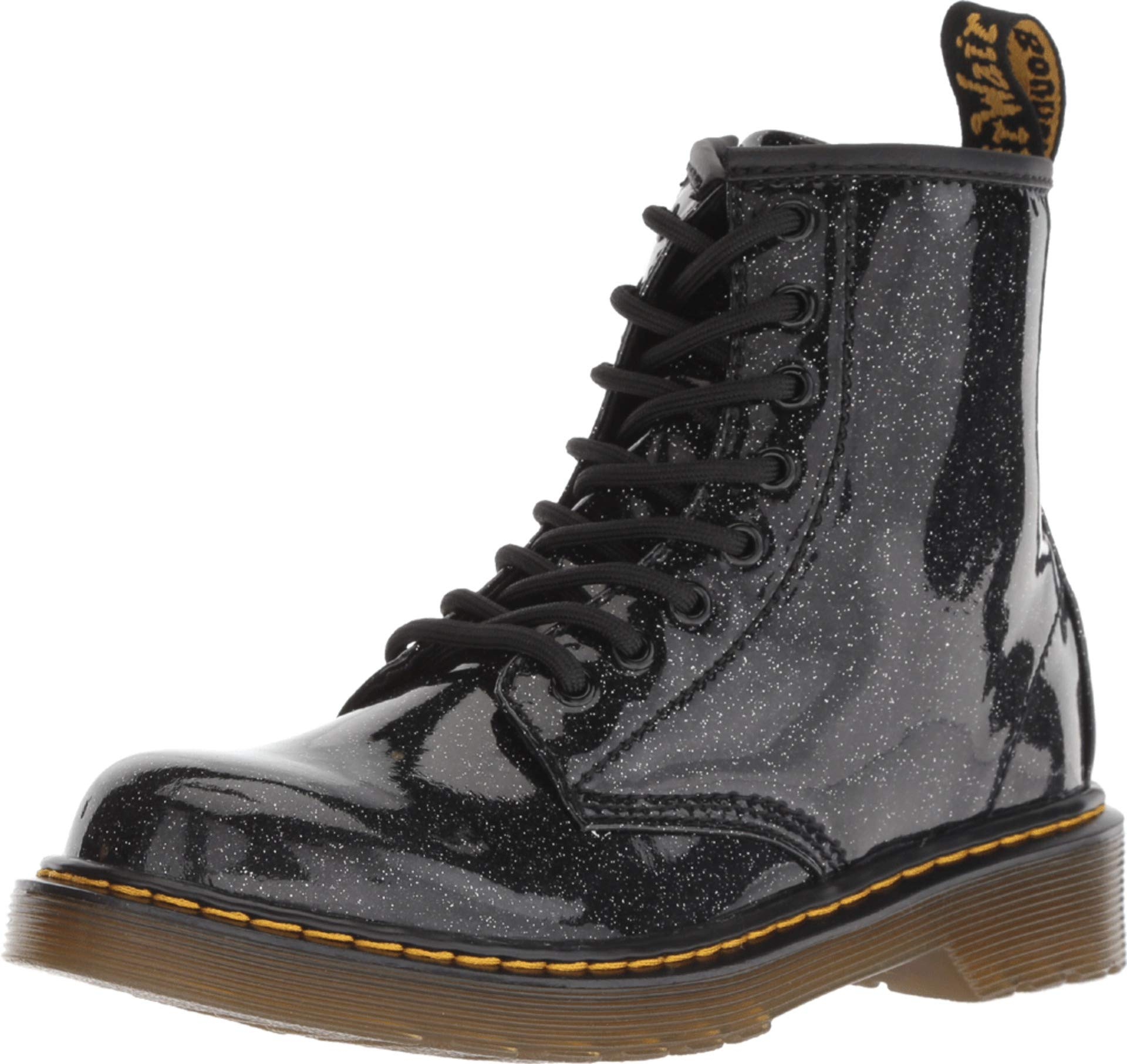 a831a20ad670b Galleon - Dr. Martens Kid's Collection Girl's 1460 Patent Glitter Junior  Delaney Boot (Little Kid/Big Kid) Black Coated Glitter 3 M UK M